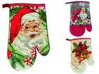 Rukavice textil vánoční